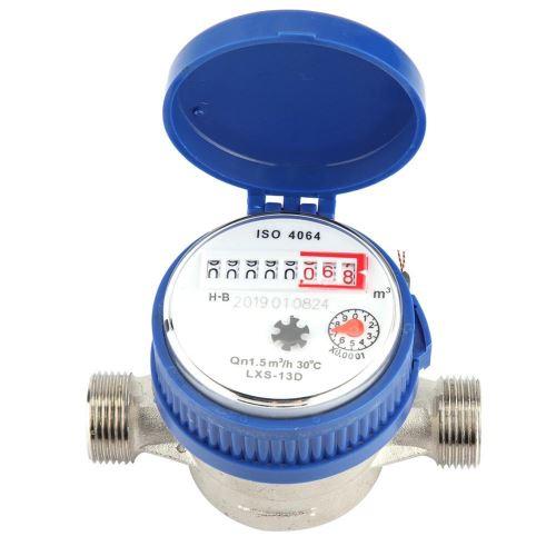 Cuivre 1,5m3 / h 0-40 M Mètre d'eau Mécanique 15mm 1/2 Pouce Jauge de Débit d'eau