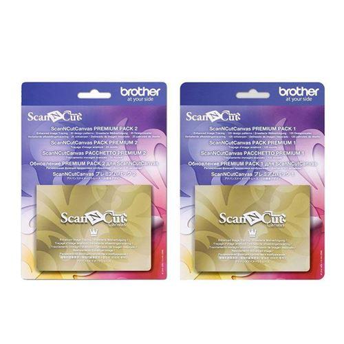 2 Canvas pour ScanNCut - Pack Premium 1 & 2 - 150 motifs - Brother