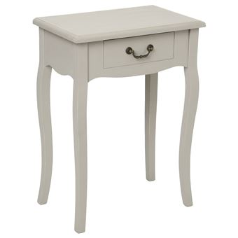 Table De Chevet Chrysa H 65 Cm Taupe