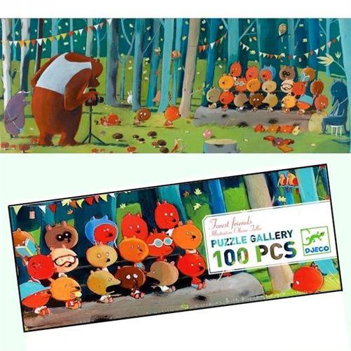 Puzzle Djeco Gallery Les Amis De La Forêt 100 Pcs 5 Ans +