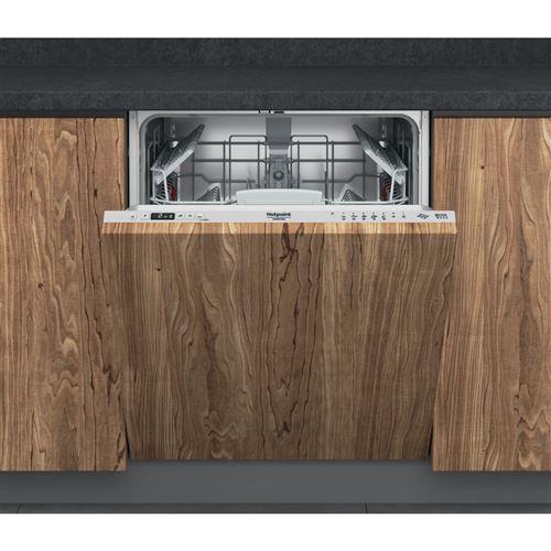 Hotpoint Ariston HI 5030 W - Lave-vaisselle - intégrable - Niche - largeur : 60 cm - profondeur : 56 cm - hauteur : 82 cm - argent