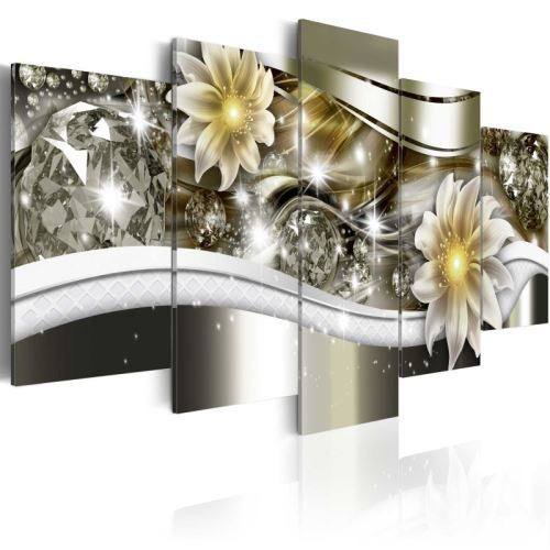 Tableau - Vague florale .Taille : 200x100