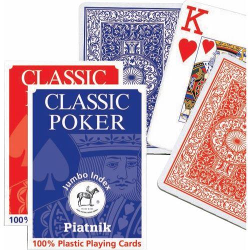 Cartes - Poker Index Jumbo PIATNIK Multicolore