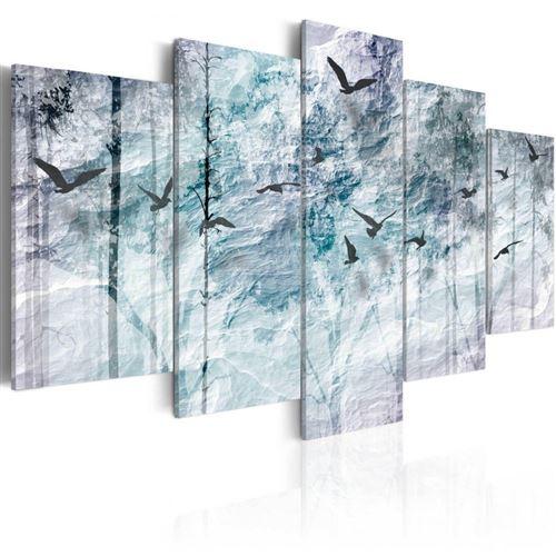 Artgeist - Tableau - Forêt bleue 200x100