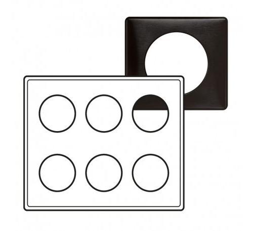Plaque Céliane Carbone - 2x3 postes