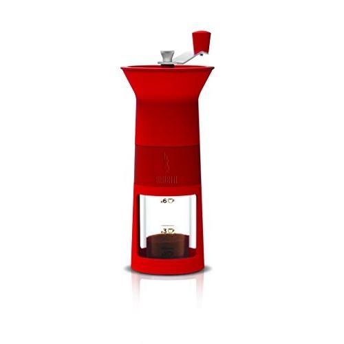 Bialetti dcdesign02 moulin à café manuel rouge plastique 11,5x8,5x21,5 cm