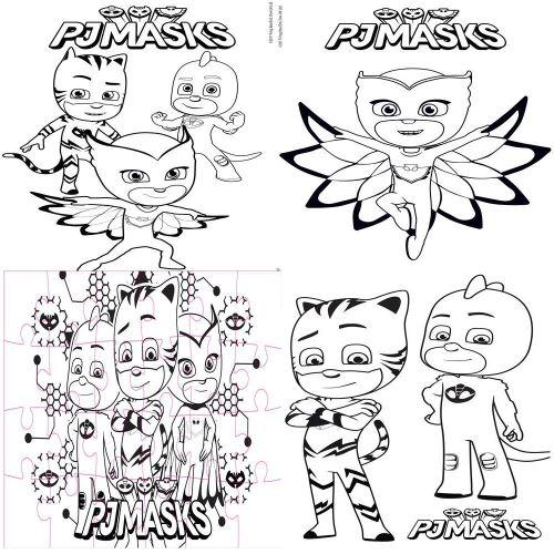 Coffret De Jeu Pj Masks Puzzle 24 Pieces Coloriage Puzzle Enfant Achat Prix Fnac