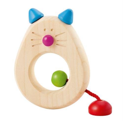Selecta Spielzeug Catinaanneau de préhension junior 8,5 cm bois naturel