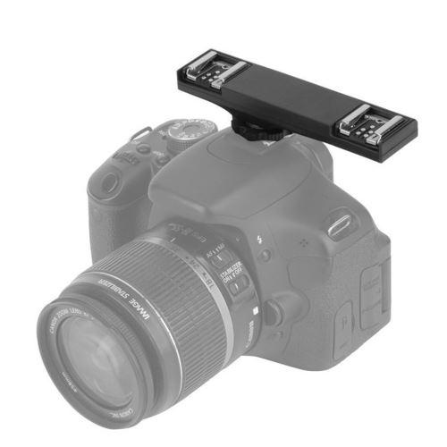 WS double Hot Shoe Speedlite Light Bracket Splitter pour Canon TTL reflex numérique 2C wedazano175