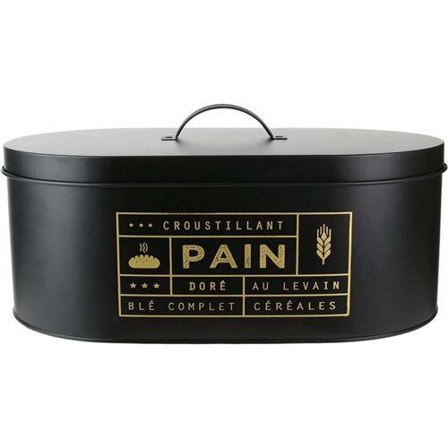 Boîte à pain design mat Black - Noir