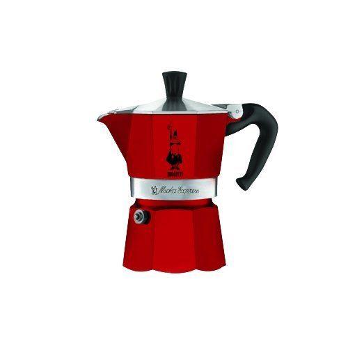 Bialetti 4941 Moka Express Machine à Expresso pour Tasse Aluminium/Plastique Rouge 30 x 20 x 15 cm