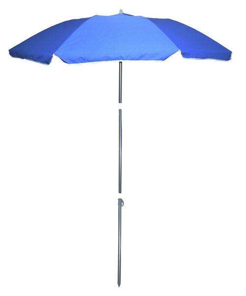 Pincho parasol de plage 180 cm polyester bleu 4-pièces