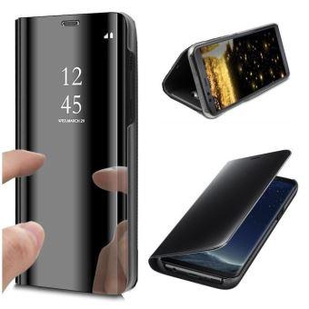 Coque Samsung Galaxy A70 Clear View Etui à Rabat Fonction Stand Etui Housse pour Samsung A70 - Noir