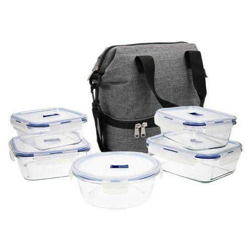 Ensemble de Boîtes à Lunch Luminarc Pure Box (6 pcs) Bleu