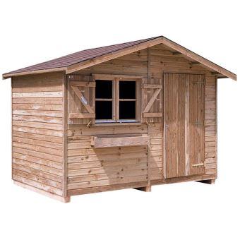 Abri de jardin en pin 21 mm d\'épaisseur duo avec plancher - Mobilier ...