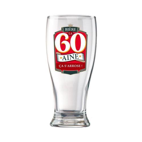 Verre à Bière en Coffret - 60 Ans