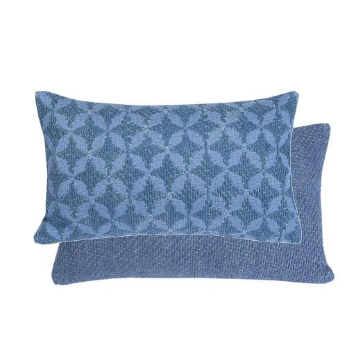 Coussin Elis bleu 30 x 50 cm T&B Maison