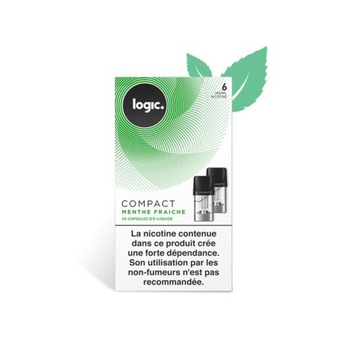 Logic E-Liquide en Capsule Logic Compact – Menthe Fraiche 6 mg/ml