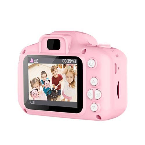 Appareil photo numérique enfants avec USB Rechargeable Rose