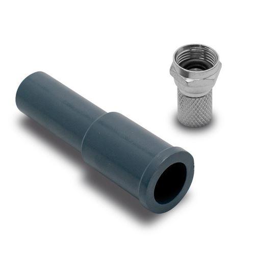 Fiche F + capuchon de protection METRONIC 450005 Noir
