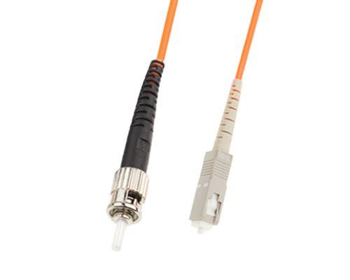 (#26) SC-ST Single-Core Multi Mode Fiber Optic Jumper,Length: 3m