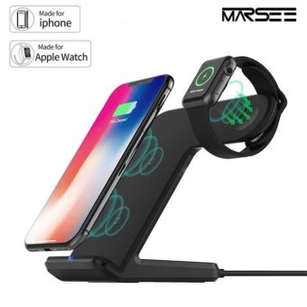chargeur double indiction iphone et apple watch
