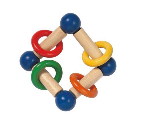 Selecta Spielzeug anneau de préhension junior Giralo12 cm en bois