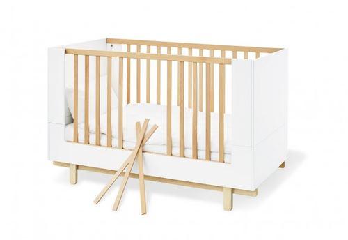 Pinolino Chambre de bébé Boks 3 pièces lit de bébé évolutif commode à langer armoire grande