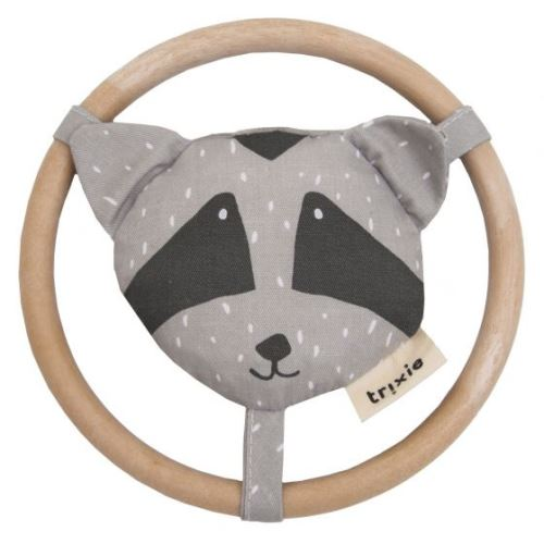 Trixie hochet Mr. Raccoon13 cm coton/corduroy gris