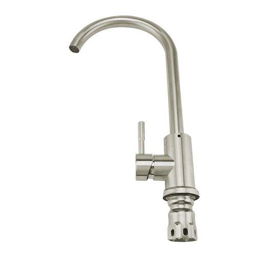 Robinet de robinet d'eau chaude froide en acier inoxydable brossé standard G1 / 2 du Royaume-Uni en acier inoxydable