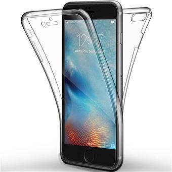 INECK iPhone 8 7 Coque Protection 360 Degres Houe Silicone Full Cover Transparente Case Ecran Integrale Ultra Fine Souple Gel Slim Bumper Etui Transparent