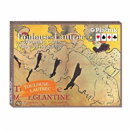 PIATNIK Coffret de 2 jeux de cartes TOULOUSE LAUTREC Multicolore