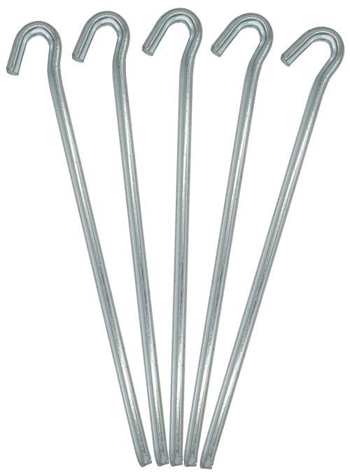 AMANKA Set 5 Piquets XL acier galvanisé 230x6mm Sardines en métal forme triangulaire avec crochet po