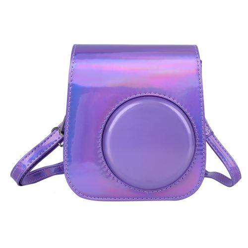 Sac de Caméra PU Vintage pour Caméra Instax Mini11 Instant - Violet