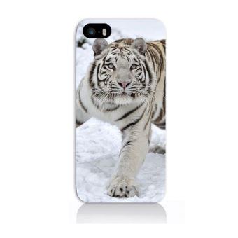 Coque iPhone 5 Tigre Blanc Neige Animaux