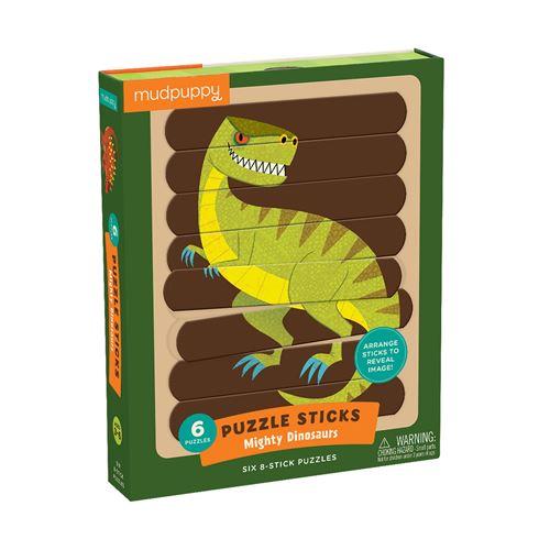 Puzzle Sticks 24 Pièces Les Dinosaures Mudpuppy