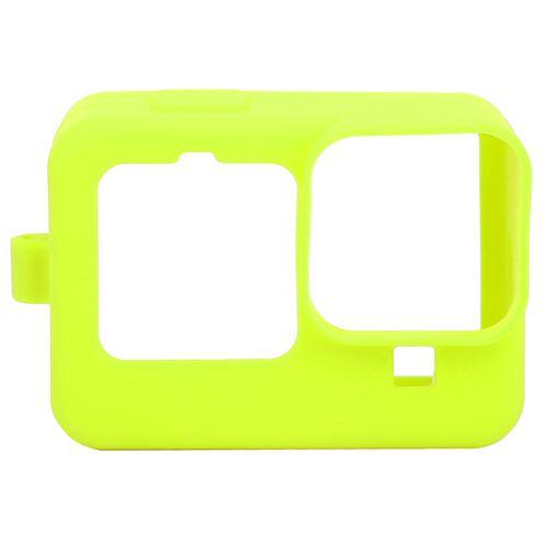 Étui de protection en silicone avec film de protection d'écran pour Gopro hero9 - Jaune