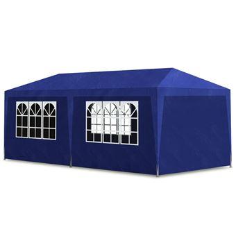 vidaXL Tente de réception 3 x 6 m Bleu