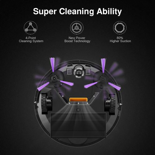 Diggro Aspirateur robot kk320A1N avec 4 mode de nettoyage