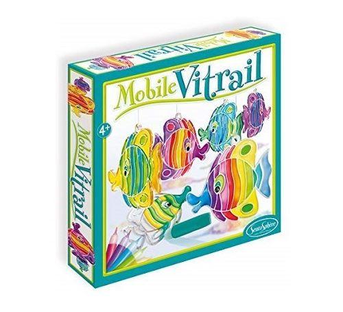 Mobile vitrail poissons - sentosphere - peinture & creation - activite manuelle