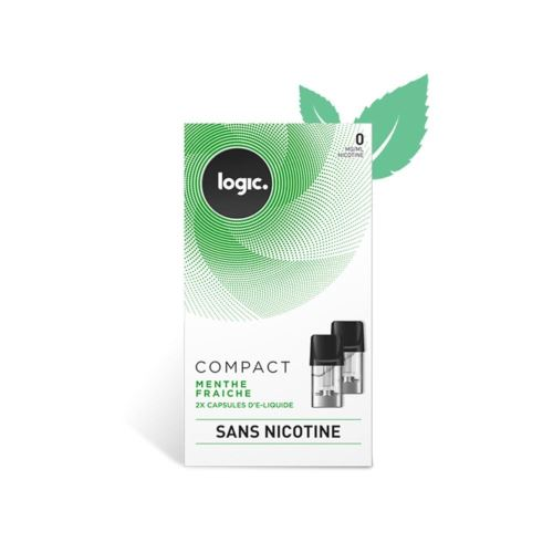 Logic E-Liquide en Capsule Logic Compact – Menthe Fraiche 0 mg/ml
