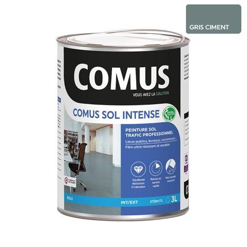Comus Sol Intense Gris Ciment 3l Peinture Sols Intérieurs Et Extérieurs, Trafic Intense/professionnel