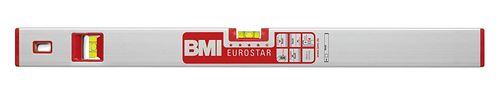 BMI 690050E Eurostar Alu-niveau à bulle, Argent/rouge, 50 cm