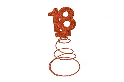 Centre de table pour anniversaire 18 ans - Rouge pailletée