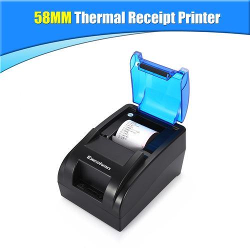 Excelvan Imprimante Thermiques de Reçus 58mm Noir