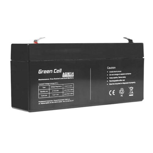 Green Cell AGM Batterie au plomb 6V 3.3Ah