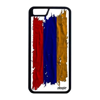Coque silicone iPhone 6 6S Plus drapeau armenie armenien noir portable jo Apple