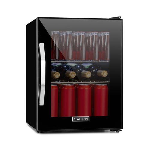 Klarstein Beersafe M Onyx Réfrigérateur 35 litres , 42 dB , éclairage LED , porte verre , classe énergétique C