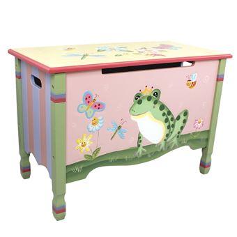 Coffre jouets meuble banc de rangement en bois chambre enfant fille w 7479a lit pour enfant - Banc de rangement enfant ...