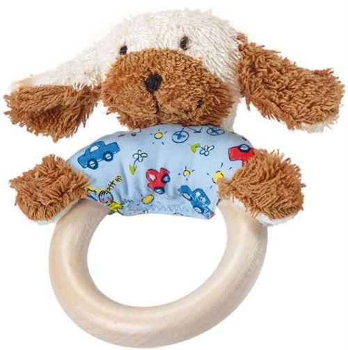 Käthe Kruse anneau de serrage en bois chien 15 cm bleu